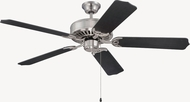 Craftmade K11135 Pro Builder Brushed Polished Nickel Indoor 52  Ceiling Fan