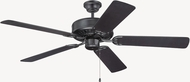 Craftmade K11136 Pro Builder Flat Black Indoor 52  Home Ceiling Fan
