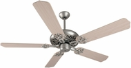 Craftmade K11138 Cecilia Brushed Satin Nickel Indoor 52  Home Ceiling Fan