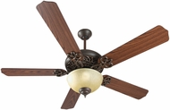 Craftmade K11139 Cecilia Unipack Aged Bronze Textured Fluorescent Indoor 52  Ceiling Fan