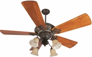 Craftmade K11150 Ophelia Aged Bronze/Vintage Madera Fluorescent Indoor 54 Home Ceiling Fan