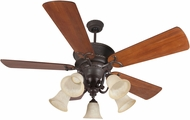 Craftmade K11155 Riata Aged Bronze Textured Fluorescent Indoor 54  Ceiling Fan