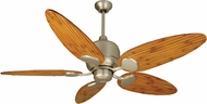 Craftmade K11160 Kona Bay Brushed Satin Nickel Indoor / Outdoor 54  Ceiling Fan