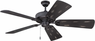 Craftmade K11197 American Tradition Flat Black Indoor 54  Ceiling Fan