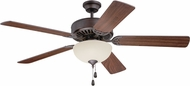 Craftmade K11201 Pro Builder 202 Aged Bronze Brushed Fluorescent Indoor 52  Home Ceiling Fan