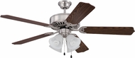 Craftmade K11202 Pro Builder 203 Brushed Polished Nickel Fluorescent Indoor 52  Ceiling Fan