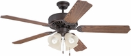 Craftmade K11203 Pro Builder 204 Aged Bronze Brushed Fluorescent Indoor 52  Home Ceiling Fan