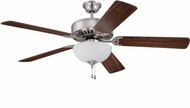 Craftmade K11205 Pro Builder 207 Brushed Polished Nickel Fluorescent Indoor 52  Home Ceiling Fan