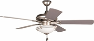 Craftmade K11213 Civic Brushed Satin Nickel Fluorescent Indoor 52  Ceiling Fan