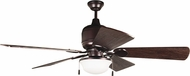 Craftmade K11225 Kona Bay Oiled Bronze Fluorescent Indoor / Outdoor 54  Home Ceiling Fan