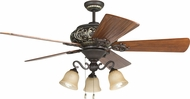 Craftmade K11237 Ophelia Aged Bronze/Vintage Madera Fluorescent Indoor 54  Home Ceiling Fan