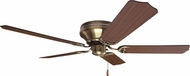 Craftmade K11242 Pro Contemporary Flushmount Antique Brass Indoor 52  Ceiling Fan