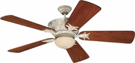 Craftmade K11246 Pavilion Antique White Distressed Indoor / Outdoor 54  Ceiling Fan