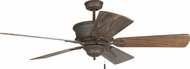Craftmade K11248 Riata Aged Bronze Textured Indoor 54  Home Ceiling Fan