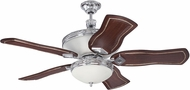 Craftmade K11250 Saratoga Chrome Indoor 54  Home Ceiling Fan