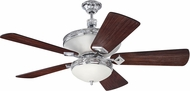 Craftmade K11253 Saratoga Chrome Indoor 54  Ceiling Fan