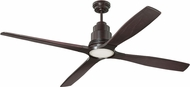 Craftmade K11284 Ricasso Contemporary Oiled Bronze LED 60  Home Ceiling Fan