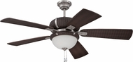 Craftmade LAP54SSDW5 La Playa Stainless Steel/Dark Wicker Exterior 54  Ceiling Fan