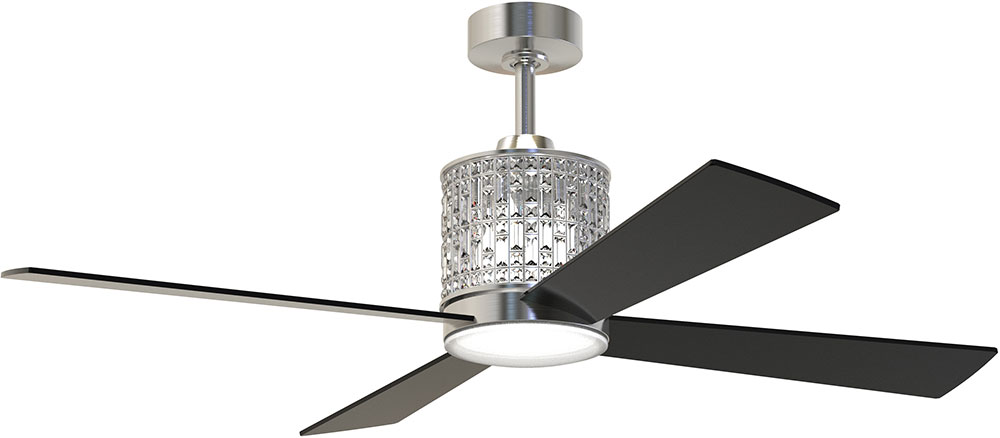 Craftmade mar52bnk4 marissa contemporary brushed polished nickel craftmade mar52bnk4 marissa contemporary brushed polished nickel led 52nbsp ceiling fan loading zoom aloadofball Images