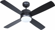 Craftmade MN44FB4-LED-UCI Montreal Modern Flat Black LED 44  Home Ceiling Fan