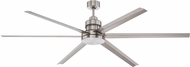 Craftmade MND72BNK6 Mondo Modern Brushed Polished Nickel Indoor / Outdoor 72  Ceiling Fan