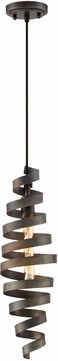 Craftmade P716MBK1 Contemporary Matte Black Mini Pendant Light