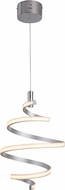 Craftmade P817MSCH-LED Contemporary Matte Silver / Chrome LED Hanging Lamp