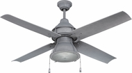 Craftmade PAR52AGV4 Port Arbor Nautical Aged Galvanized Fluorescent Outdoor 52  Home Ceiling Fan