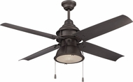 Craftmade PAR52ESP4 Port Arbor Contemporary Espresso Fluorescent Outdoor 52  Home Ceiling Fan