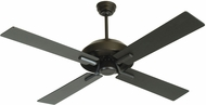 Craftmade SB52FB4 South Beach Contemporary Flat Black Fluorescent Outdoor 52  Ceiling Fan