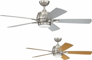 Craftmade STE52BNK5 Stellar Brushed Polished Nickel LED 52  Ceiling Fan