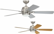 Craftmade STE52BNK5-UCI Stellar Brushed Polished Nickel LED 52  Home Ceiling Fan