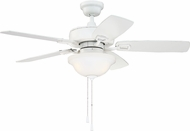 Craftmade TCE52W5C1 Twist N Click White LED 52  Home Ceiling Fan