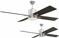 Craftmade TEA52BNK4 Teana Modern Brushed Polished Nickel LED 52  Ceiling Fan