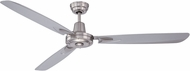 Craftmade VE58BNK3 Velocity Contemporary Brushed Polished Nickel 58 Ceiling Fan