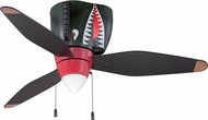 Craftmade WB348TS3 WarPlanes Contemporary Tiger Shark Indoor 48  Ceiling Fan