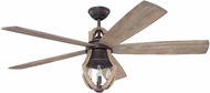 Craftmade WIN56ABZWP5 Winton Weathered Pine Indoor 56  Ceiling Fan