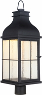 Craftmade ZA1825-MN-LED Vincent Traditional Midnight LED Outdoor Lamp Post Light