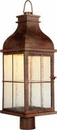 Craftmade ZA1825-WC-LED Vincent Traditional Weathered Copper LED Exterior Post Light