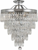 Crystorama 120-CH-CEILING Chloe Polished Chrome Flush Ceiling Light Fixture