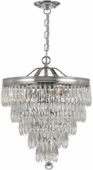 Crystorama 120-CH Chloe Polished Chrome Pendant Lighting