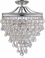 Crystorama 130-CH-CEILING Calypso Polished Chrome Home Ceiling Lighting