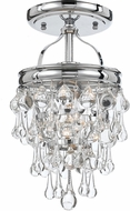 Crystorama 131-CH-CEILING Calypso Polished Chrome Overhead Lighting Fixture