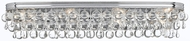 Crystorama 134-CH Calypso Polished Chrome 33  Bath Lighting
