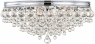 Crystorama 138-CH Calypso Polished Chrome Ceiling Light Fixture