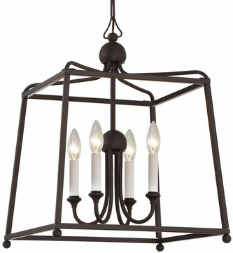 Crystorama 2245-DB-NOSHADE Sylvan Dark Bronze 16  Foyer Lighting Fixture
