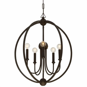 Crystorama 2247-DB-NOSHADE Sylvan Dark Bronze Mini Chandelier Light