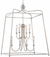Crystorama 2248-PN-NOSHADE Sylvan Polished Nickel Foyer Light Fixture