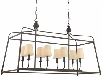 Crystorama 2249-DB Sylvan Dark Bronze Island Lighting