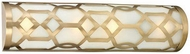 Crystorama 2264-AG Jennings Aged Brass Bathroom Lighting Fixture